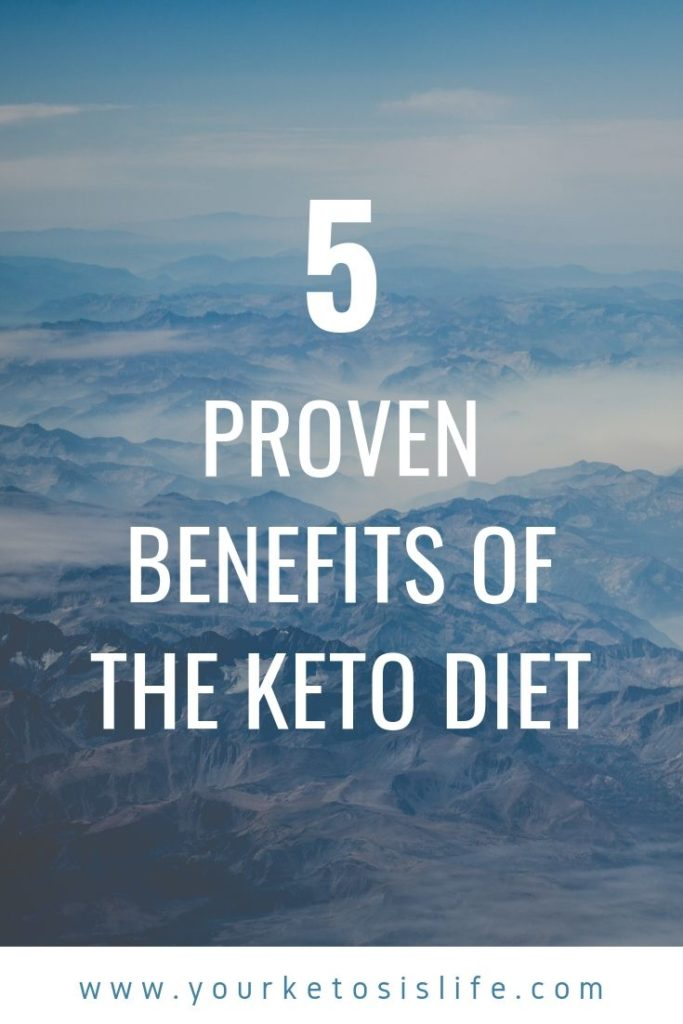 proven benefits of keto pinterest cover image.